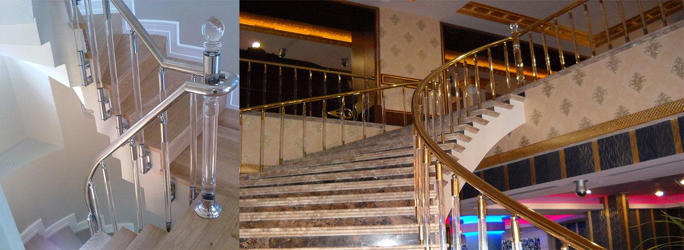 Pleksi Merdiven Korkulukları